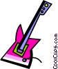 Vector Clipart illustration  of a Electric Guitars