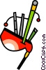Vector Clipart graphic  of a Bagpipers