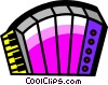 Accordions Vector Clip Art picture
