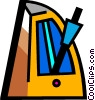 Vector Clip Art graphic  of a Metronomes