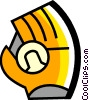 Vector Clip Art graphic  of a Gloves