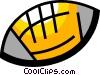 Vector Clip Art image  of a Footballs