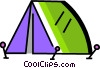 Vector Clip Art picture  of a Tents