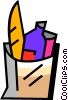 Grocery Store Items Vector Clipart image