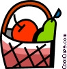 Vector Clipart graphic  of a Food Baskets