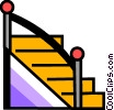 Vector Clipart image  of a Stairs