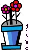 Vector Clip Art picture  of a Potted Plants and Flowers