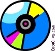 Vector Clip Art graphic  of a Compact Discs  CD's
