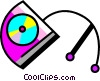 Vector Clipart picture  of a Portable CD-ROM Players