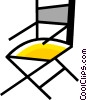 Vector Clipart illustration  of a Folding Chair