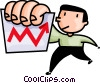 Vector Clip Art image  of a man with a chart