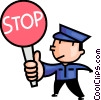 Vector Clipart illustration  of a Crossing guard