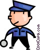 Vector Clip Art image  of a crossing guard
