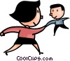 man and a woman shaking hands Vector Clip Art picture