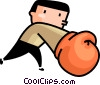 Vector Clip Art graphic  of a Boxer sparring
