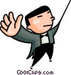 Vector Clipart graphic  of a conductor
