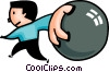 Vector Clipart graphic  of a Bowler bowling ball