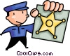 Vector Clip Art image  of a police officer