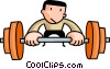 Man lifting weights Vector Clipart illustration
