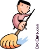 man mopping the floor Vector Clip Art picture