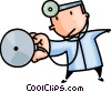 doctor with his stethoscope Vector Clipart picture