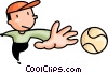 baseball player Vector Clipart image
