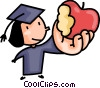 Vector Clip Art image  of a Graduate taking a bite out of