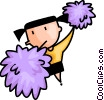 Vector Clipart illustration  of a cheerleader