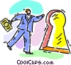 Vector Clip Art image  of a success concept
