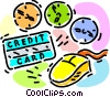 Vector Clipart graphic  of a credit concept