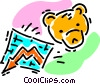 Vector Clip Art image  of a bear market