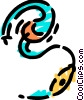 Headphones Vector Clipart graphic