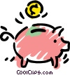 Vector Clipart illustration  of a Piggy Banks