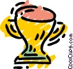 Vector Clip Art picture  of a Trophies