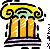 Vector Clip Art graphic  of a Column or Pedestal