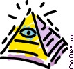 Pyramids Vector Clipart illustration