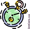 Vector Clip Art image  of a Stopwatches