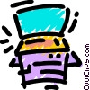 Vector Clip Art graphic  of a Photocopiers