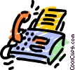 Vector Clip Art graphic  of a Fax Machines