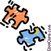 Vector Clip Art image  of a Pieces of a Puzzle