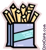 French Fries Vector Clipart graphic
