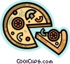 Pizza with the works Vector Clipart picture