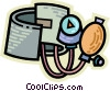 Blood Pressure Gauge Vector Clipart illustration