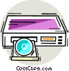 CD player Vector Clipart illustration