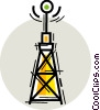 Vector Clipart image  of a radio antenna