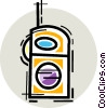 Vector Clipart picture  of a Walkie-Talkies