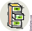 Filing Cabinets Vector Clipart illustration