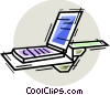 Vector Clip Art graphic  of a Flatbed Scanners