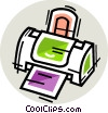 Vector Clipart image  of a Printers
