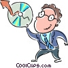 Charting Success Vector Clip Art picture